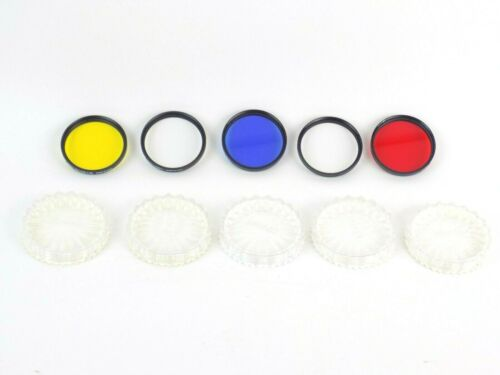 Lot of 5 Tiffen 62mm Screw In Lens Filters with Cases