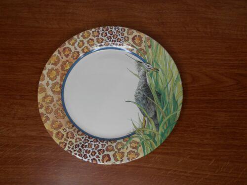"""Gien - Savane - Dinner Plate - ONE - 1 - France - Animal Print 10 7/8"""" Multiples"""