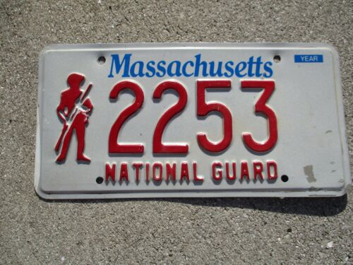 Massachusetts National Guard license plate  #  2253