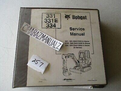Bobcat 331 311e 334 Excavator Service Manual