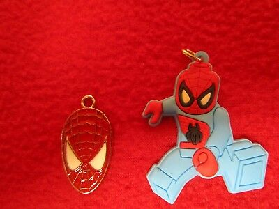 Two Spiderman Charms Jewelry Making Legos - Make your Own Jewelry pendant Marvel](Spiderman Jewelry)