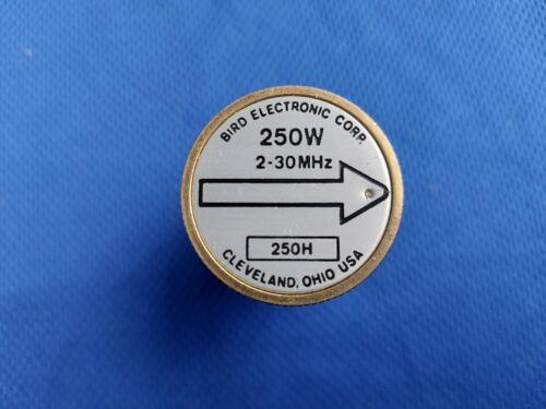BIRD 43 Thruline Wattmeter Element Slug 250H 250W 2-30MHz HF