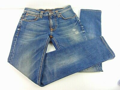 Nudie Jeans Co Blue Distressed Jeans Size 28/34
