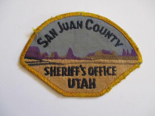 vintage 1970s San Juan County Sheriff
