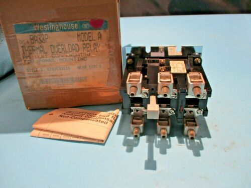 NEW WESTINGHOUSE BA33P THREMAL OVERLOAD RELAY 3 POLE SIZE 3