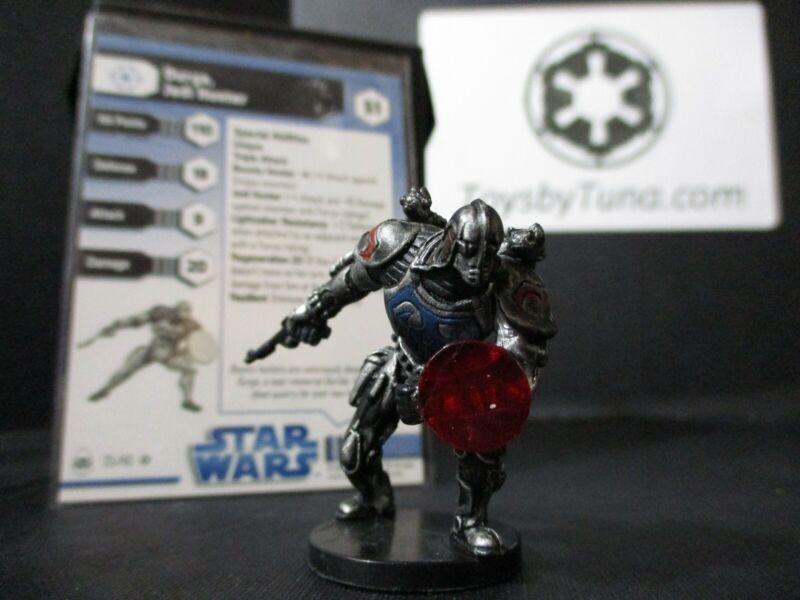 Star Wars Miniatures Durge, Jedi Hunter Clone Wars CW w/ Card mini RPG Legion