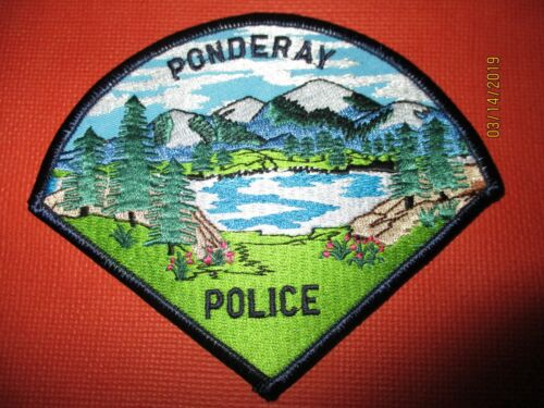 Collectible Idaho Police Patch,Ponderay, New