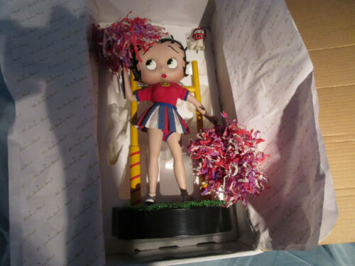 Betty Boop Danbury Mint Cheerleader Porcelain Collector Doll