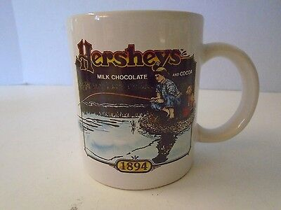 Hersheys Milk Chocolate Cocoa 1894 Mug Coffee Tea Cup Boy Dog Fishing
