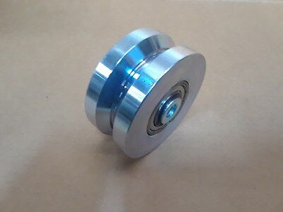 4 X 2 Cold Rolled Steel Chromed V-grooved Wheel 3000 Lbsea-capacity