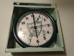 Acurite  MACE Designer 8 Diameter Indoor Outdoor Clock new in box-clean  usa