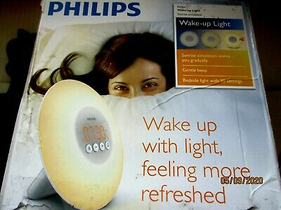 Philips HF3500/60 Wake-Up Light Therapy Alarm Clock W/ Sunrise Simulation White