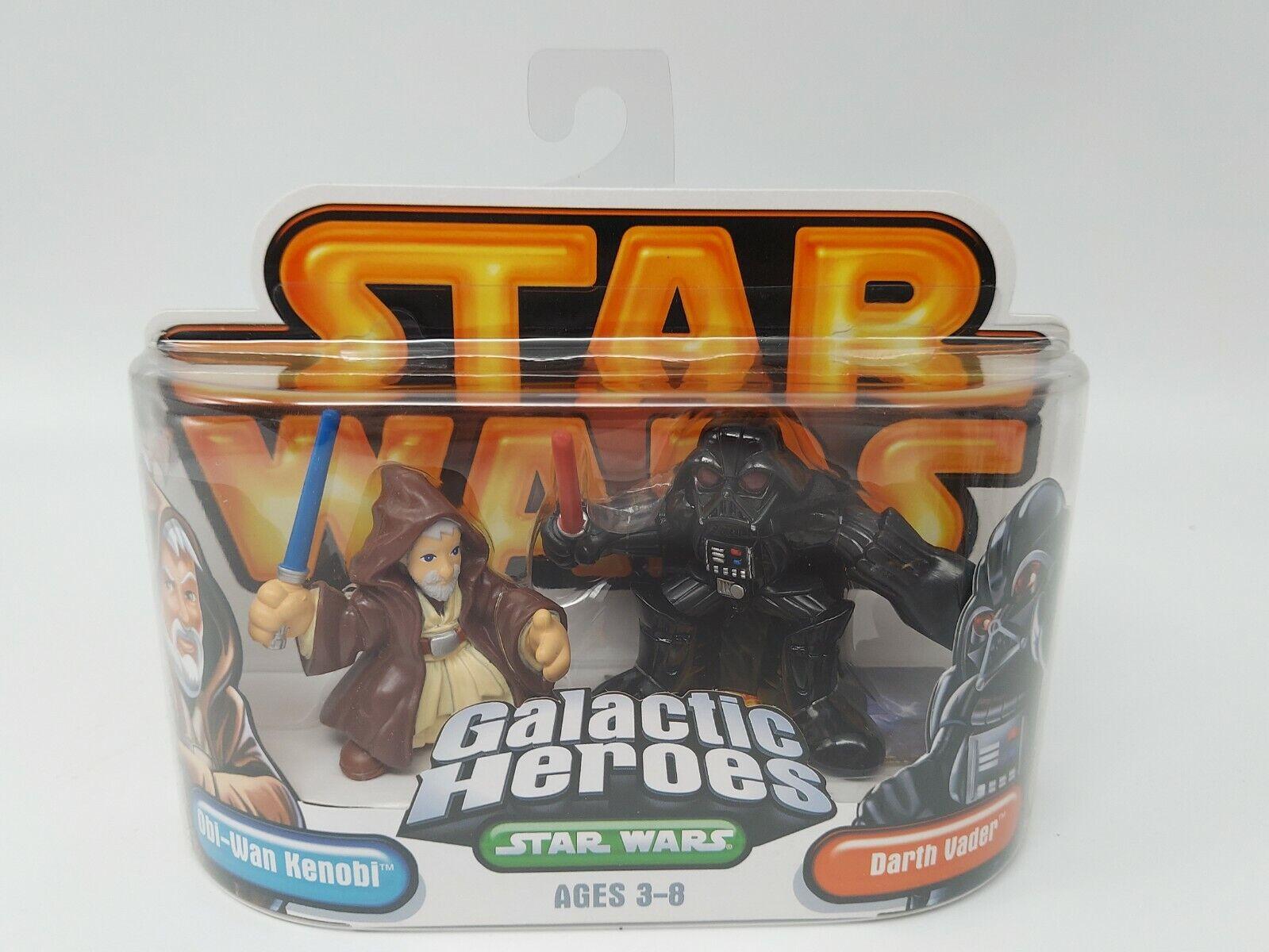 Star Wars Galactic Heroes Darth Vader and Obi Wan Kenobi 2 Pack - Factory Sealed