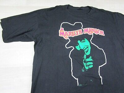 VINTAGE 95 Marilyn Manson Smells Like Children Dope Fiend T-Shirt (XL) Rap Tee