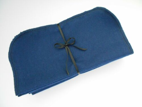 """Cloth Wipes 20 Flannel 8"""" Navy Reusable TP Baby Family Tissue Napkin 1 or 2 Ply"""