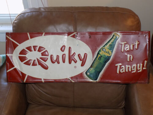 Quiky Tart'n Tangy Soda Metal Embossed Sign