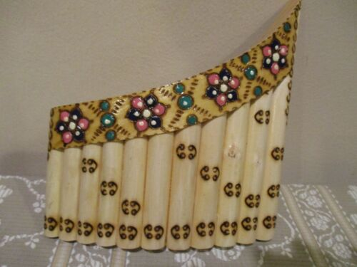 Artisian Decorative  Bamboo Panflute,  11 Pipes (1pc)