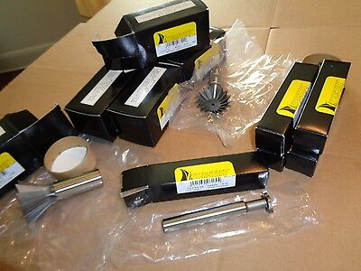 11pc Lot Interstate Mill Cutter Tools 58 T Slot 2-14 Double Angle Dovetail