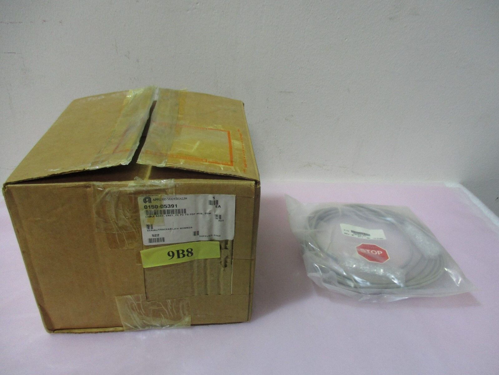 AMAT 0150-05391 Rev.001, Cable Assembly, ENET, FE PC to FDP Hub, DSM. 417896