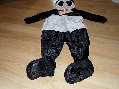 Toddler Size 2-3T Panda Teddy Bear Halloween Costume Jumpsuit New - Panda Bear Costume Toddler