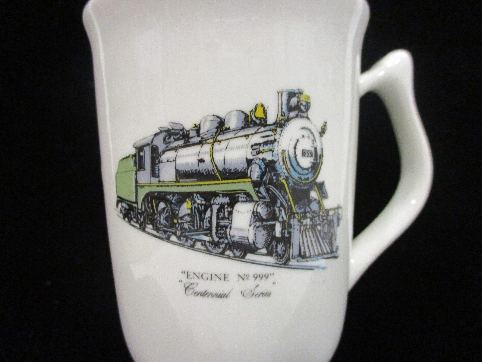 "Vintage HALL CHINA ""ENGINE No.999"" Centennial Series Mug w/22Kt Gold Trim"