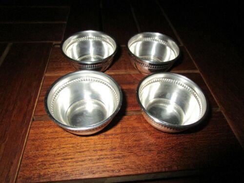VINTAGE STERLING SILVER SET OF 4 OPEN SALT CUPS