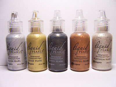 5 Liquid Pearls Dimensional Pearlescent Paint to Embellish Fabric & Paper Crafts