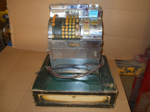WOW VINTAGE 1944 NATIONAL CASH REGISTER STAINLESS STEEL ELECTRIC 3s-1b RARE LOOK