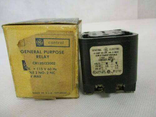 NEW GE GENERAL ELECTRIC CR120J22002 RELAY