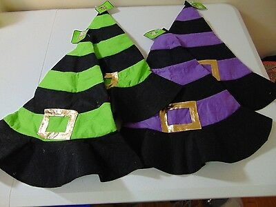 Halloween Felt Witch Hats Party Favors, Crafts, Kids Costume Set of Four #1259