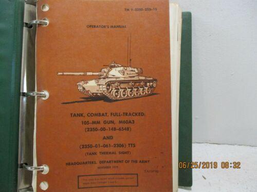 TM 9-2350-253-10 TANK,COMBAT, FULL-TRACKED, 105-MM