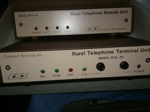Connect Systems Inc RURAL RADIO TELEPHONE REMOTE UNITS CSI NEW WITH MANUAL