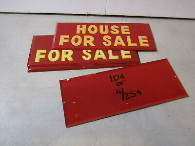 5 VINTAGE METAL SIGNS - HOUSE FOR SALE