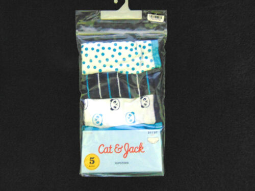 NWT CAT AND JACK 5-PACK UNDERWEAR HIPSTERS GIRLS SIZE 2T/3T