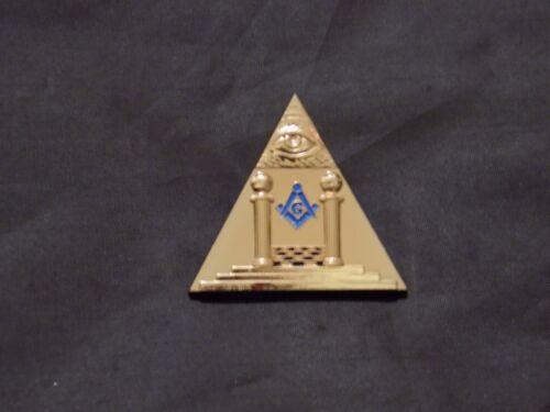 Masonic Altar Pillars All Seeing Eye Lapel Tac Pin Masonic Freemason NEW!