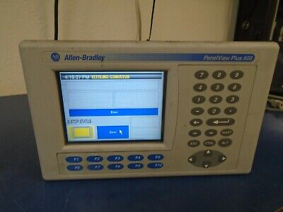 Allen Bradley 2711p-b6c3a Ser D Panelview Plus 600 2711-rn3
