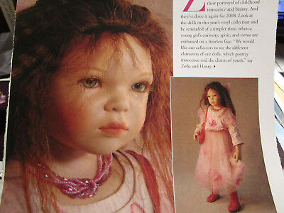 3pg Zofia Zawieruszynski DOLL History Article CAPTURING INNOCENCE  for sale  Saint Charles