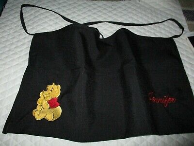 Pooh Bear Embroider Server Waitress Apron 3 Pocket Diner Name Free Lady Pizazz
