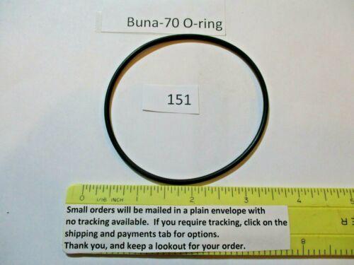 "151 O-ring. 3"" ID x 3-3/16"" OD x 3/32"" thick. Buna-70. Quan 1."