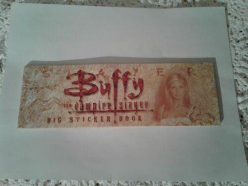 Vintage 2000 Buffy The Vampire Slayer Bumper Sticker Book