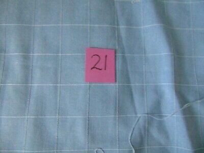 Vintage fabric 21 - blue linen remnant 1980s