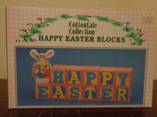 Cottontale Wooden Wood Happy Easter Blocks 1996 WB