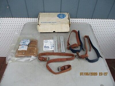 Klein Tools Lineman Tree Pole Climbing Spikes Gaffs 8210 R L. New In Box