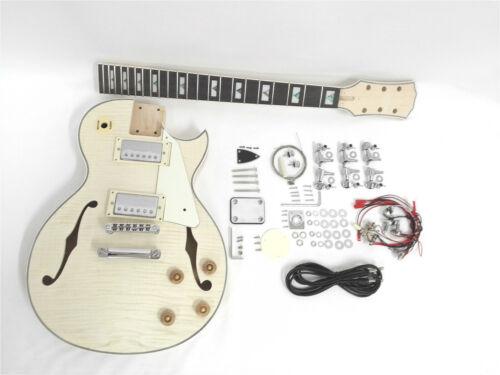 Haze E-239A DIY-PB Totally NO-SOLDER Semi-Hollow Body Electric Guitar DIY Kit