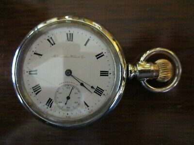 Vintage Antique Hampden 16s 17 jewel Gen'l Stark pocket watch  *serviced*