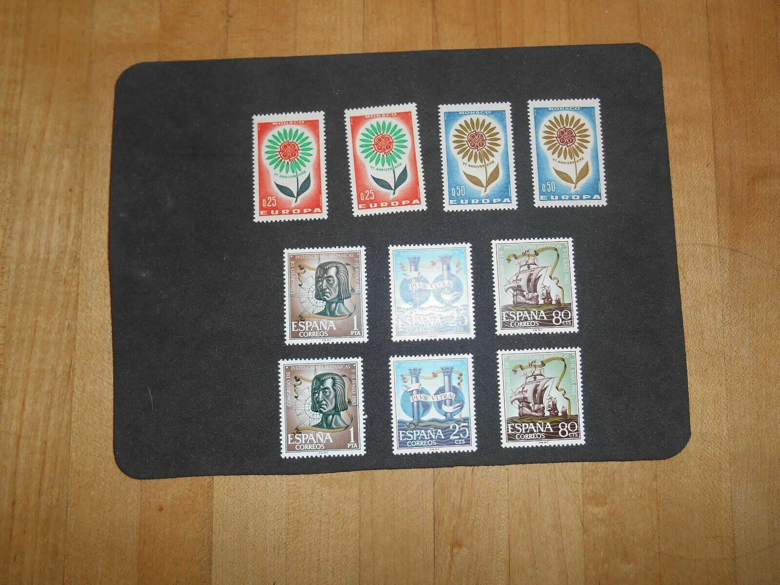 SPAIN 1963 MNH Sc 1174-1176 SPANISH CULTURE, MONACO EUROPA Sc 590-591 MNH. - $1.50