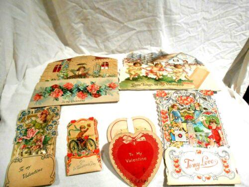 6-Vintage German Embossed Fold Out Valentine