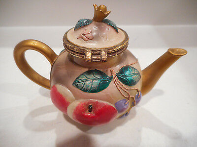 Nini Teapot Royal Worcester Trinket Box #6-50