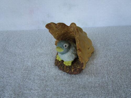 Franklin Mint Woodland Surprise~[ BLUEBIRD ]~ 1984~Hand Painted Fine Porcelain!