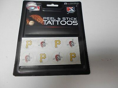 Pittsburgh Pirates Peel and Stick Tattoos 8 per pack.  #583](Pittsburgh Pirates Tattoos)